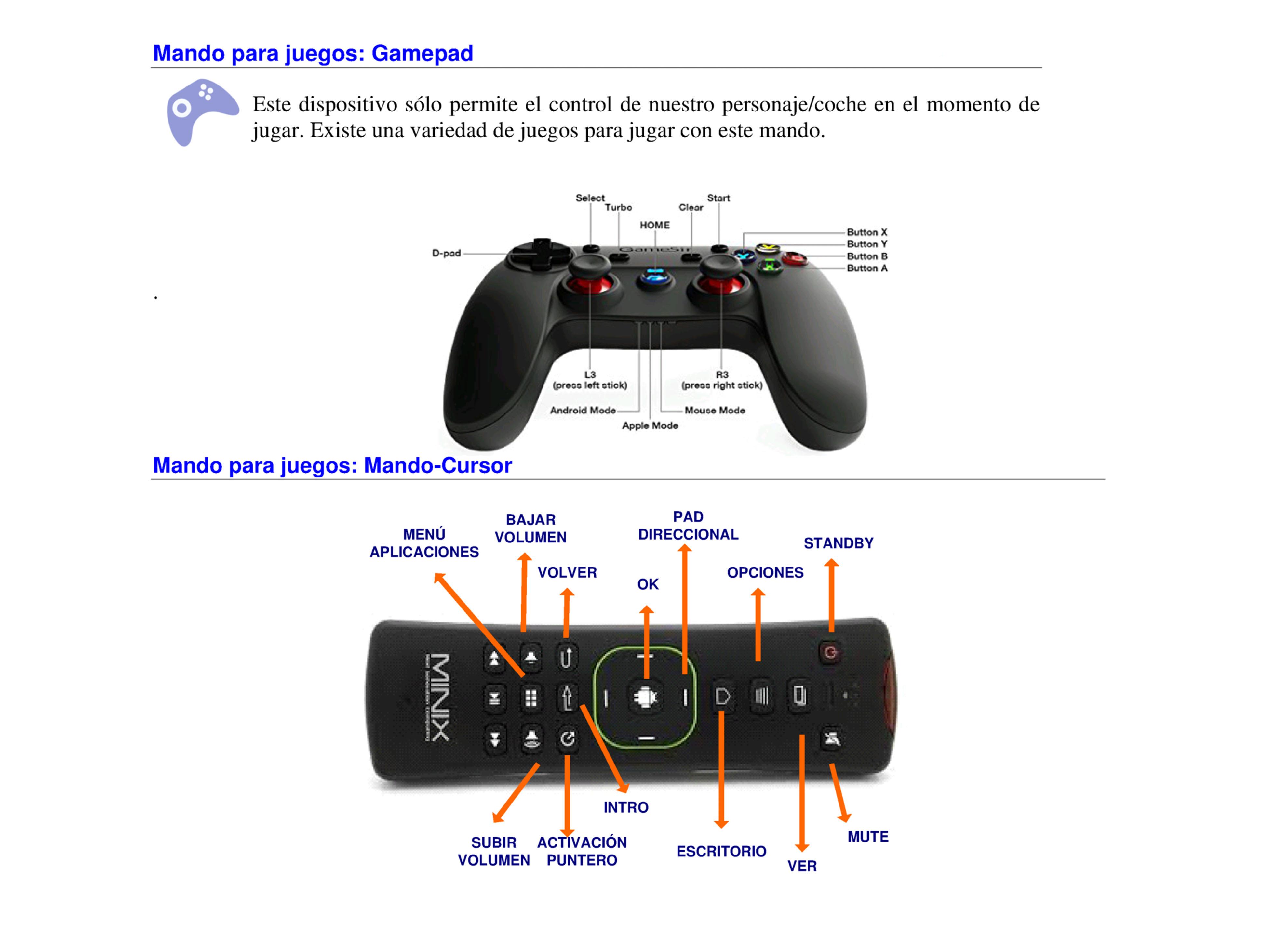 Gamepad y Mando-Cursor